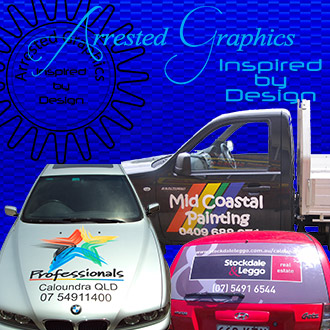 vehicle signs wraps graphics one way vision boat caravans buddina sunshine coast