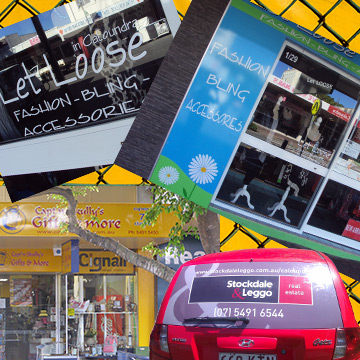 business shop signs car signs banners one way vision stickers buddina sunshine coast